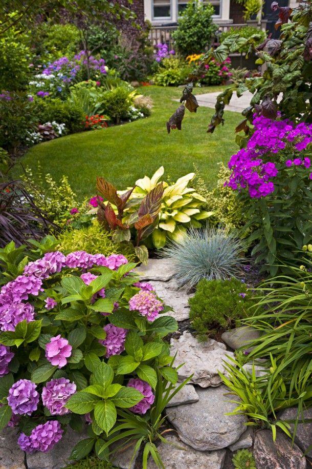 Colourful garden idea